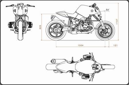 У мотоцикла баварский